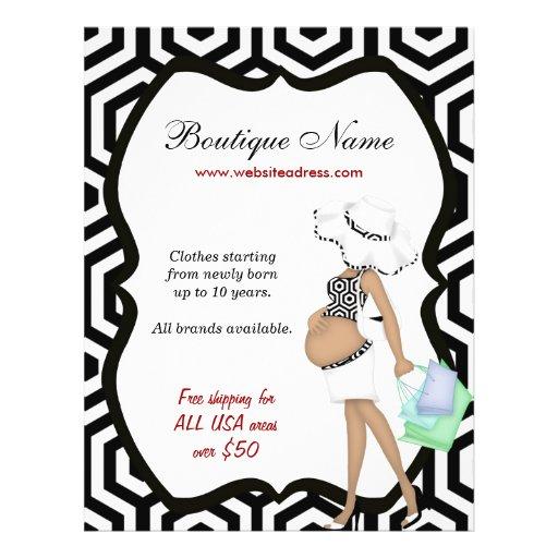 Boutique online flyer