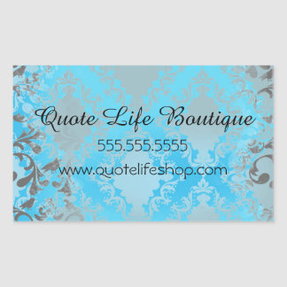 Boutique or Store Business Card Rectangular Sticker