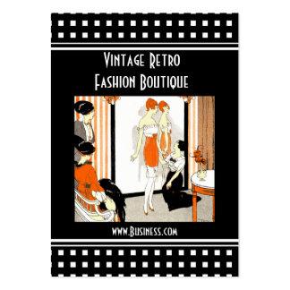 Boutique retro de la moda del vintage de la tarjetas de visita grandes
