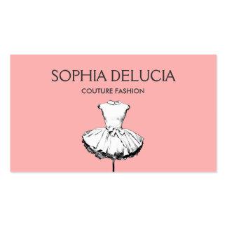 Boutique rosa claro de la moda del vestido tarjetas de visita