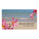 Boutique rosado B&B del balneario de la playa del  Plantillas De Tarjetas Personales