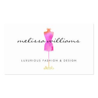 Boutique rosado de la moda del maniquí del vestido tarjetas de visita