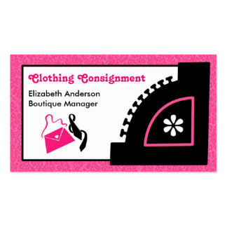 Boutique rosado femenino del envío de la ropa del tarjeta de visita