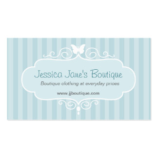 Boutique shop mint blue clothing swing tag Double-Sided standard business cards (Pack of 100)