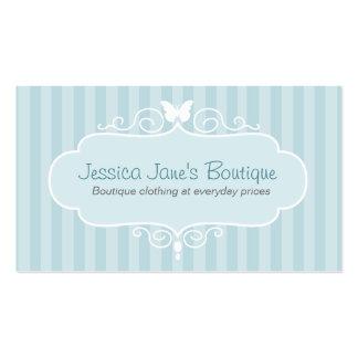 Boutique shop mint blue swing tag / business card