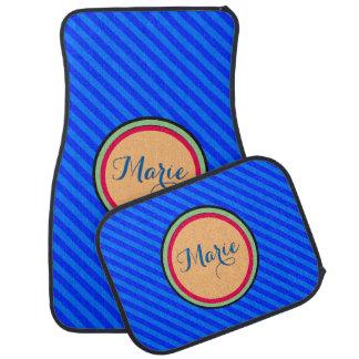 Boutique Stripes - Car Floor Mats Blue Car Mat