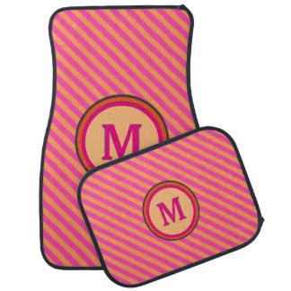 Boutique Stripes Pink & Orange - Car Floor Mats Car Mat