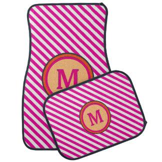 Boutique Stripes Pink & White - Car Floor Mats Set Car Mat