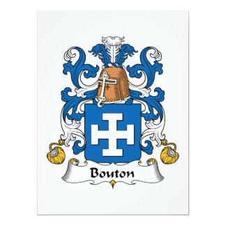 Bouton Family Crest Custom Invitation
