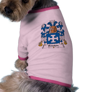 Bouton Family Crest Pet Clothing