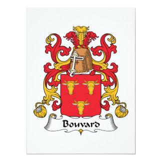 Bouvard Family Crest Personalized Invitation
