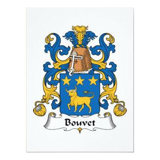 Bouvet Family Crest Personalized Announcements