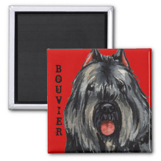Bouvier Color Block 2 Inch Square Magnet