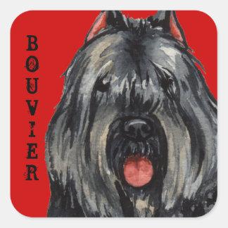Bouvier Color Block Square Sticker