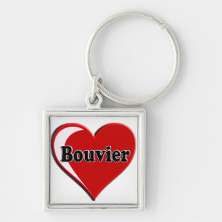 Bouvier des Flanders on Heart for dog lovers Keychain