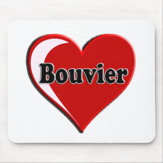 Bouvier des Flanders on Heart for dog lovers Mouse Pad