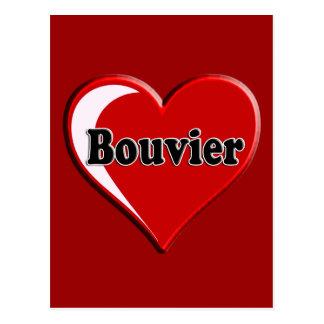Bouvier des Flanders on Heart for dog lovers Postcard
