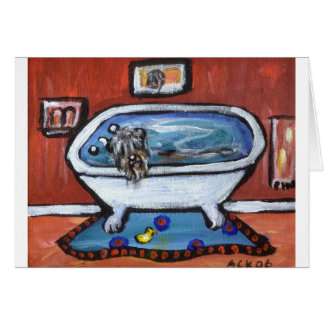 Bouvier des flandres bath card