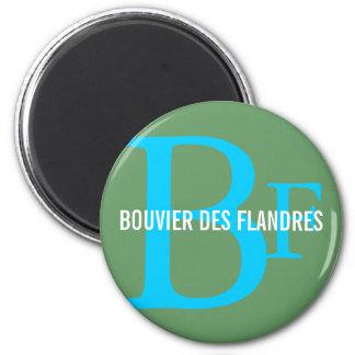 Bouvier des Flandres Breed Monogram 2 Inch Round Magnet