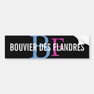 Bouvier des Flandres Breed Monogram Bumper Sticker