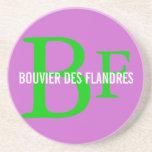 Bouvier des Flandres Breed Monogram Drink Coaster