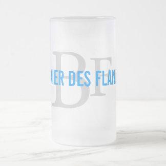 Bouvier des Flandres Breed Monogram Frosted Glass Beer Mug
