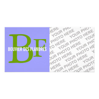 Bouvier des Flandres Breed Monogram Photo Card