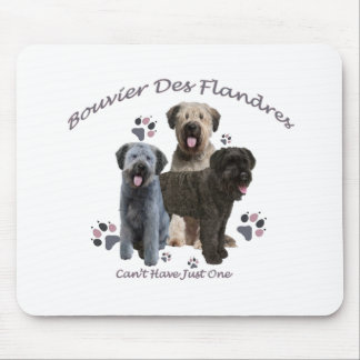 Bouvier Des Flandres Can't Have Just One Mouse Pad