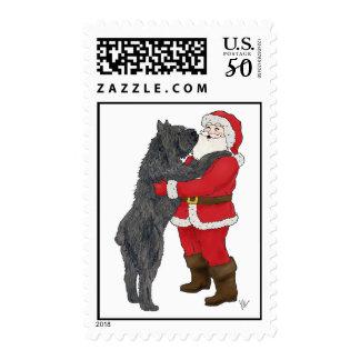 Bouvier des Flandres Christmas Greeting Postage