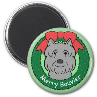 Bouvier Des Flandres Christmas Magnet