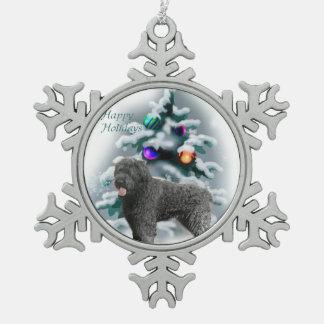 Bouvier des Flandres Christmas Snowflake Pewter Christmas Ornament