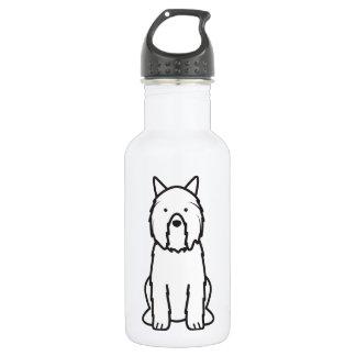 Bouvier des Flandres Dog Cartoon Stainless Steel Water Bottle