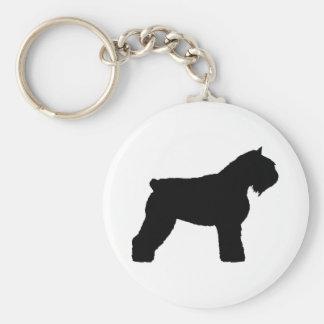 Bouvier des Flandres Dog (in black) Keychain
