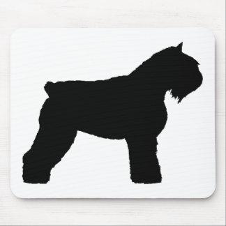 Bouvier des Flandres Dog (in black) Mouse Pad