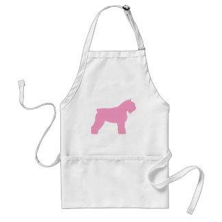 Bouvier des Flandres Dog (in pink) Adult Apron