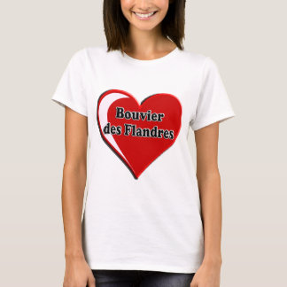 Bouvier des Flandres on Heart for dog lovers T-Shirt