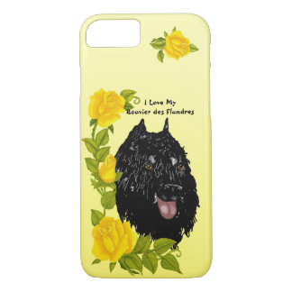 Bouvier des Flandres on Yellow Roses 7 iPhone 8/7 Case