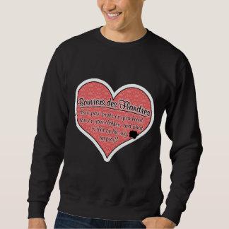 Bouvier des Flandres Paw Prints Dog Humor Sweatshirt