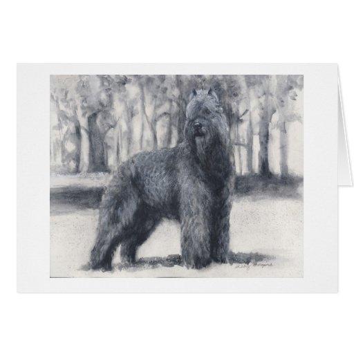 Bouvier des Flandres pedigree dog greeting card