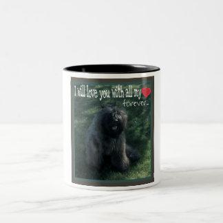 bouvier des flandres pup Two-Tone coffee mug