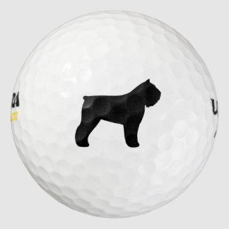 Bouvier des Flandres Silhouette Golf Balls