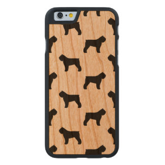 Bouvier des Flandres Silhouettes Pattern Carved Cherry iPhone 6 Case