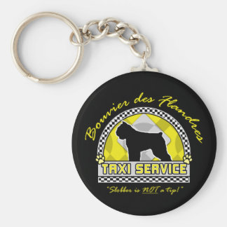 Bouvier des Flandres Taxi Service Basic Round Button Keychain