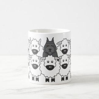 Bouvier en las ovejas tazas de café
