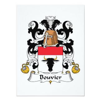 Bouvier Family Crest Invites
