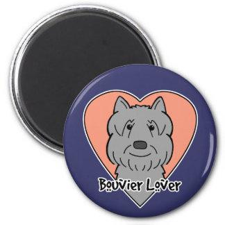 Bouvier Lover 2 Inch Round Magnet