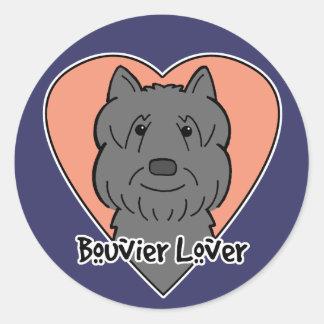 Bouvier Lover Classic Round Sticker
