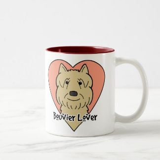 Bouvier Lover Two-Tone Coffee Mug