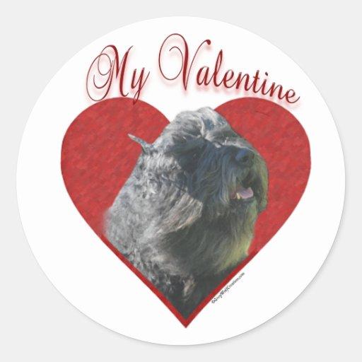 Bouvier mi tarjeta del día de San Valentín - pegat
