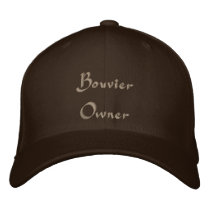 Bouvier Owner Embroidered Baseball Hat